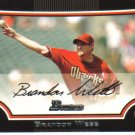 2009 Bowman  #180 Brandon Webb   Diamondbacks