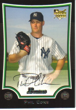 2009 Bowman  #196 Phil Coke  RC  Yankees