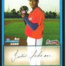 2009 Bowman Prospects  #4 Julio Teheran   Braves