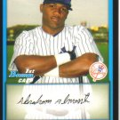 2009 Bowman Prospects  #49 Abraham Almonte   Yankees