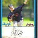 2009 Bowman Prospects  #75 Brett Oberholtzer   Braves