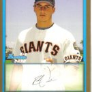 2009 Bowman Prospects Gold  #78 Ryan Verdugo   Giants