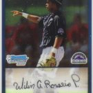 2009 Bowman Prospects Chrome  #58 Wilin Rosario   Rockies