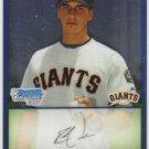 2009 Bowman Prospects Chrome  #78 Ryan Verdugo   Giants