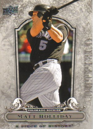 2008 Upper Deck Piece of History  #29 Matt Holliday   Rockies