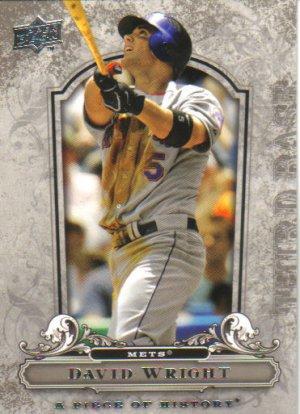 2008 Upper Deck Piece of History  #59 David Wright   Mets
