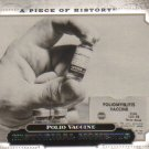 2008 Upper Deck Piece of History  #170 Polio Vaccine   Historical Moments