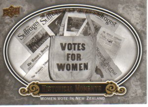 2009 Upper Deck Piece of History  #168 Women Vote in New Zealand    Historical Moments