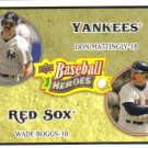 2008 Upper Deck Heroes  #176 Don Mattingly / Wade Boggs