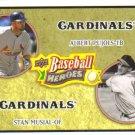 2008 Upper Deck Heroes  #178 Albert Pujols / Stan Musial   Cardinals