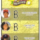 2008 Upper Deck Heroes  #187 Carl Yastrzemski / Carlton Fisk / Wade Boggs   Red Sox