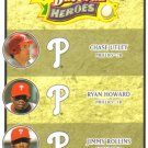 2008 Upper Deck Heroes  #191 Chase Utley / Ryan Howard / Jimmy Rollins   Phillies