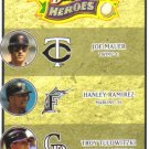 2008 Upper Deck Heroes  #192 Joe Mauer / Hanley Ramirez / Troy Tulowitzki