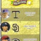 2008 Upper Deck Heroes  #193 Nolan Ryan / Greg Maddux / Randy Johnson
