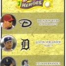 2008 Upper Deck Heroes  #194 Brandon Webb / Justin Verlander / Felix Hernandez