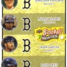 2008 Upper Deck Heroes  #198 Jonathan Papelbon / Manny Ramirez / Jason Varitek / David Ortiz