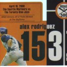 2007 Topps Road to 500  #153 Alex Rodriguez   Yankees