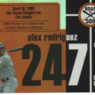 2007 Topps Road to 500  #247 Alex Rodriguez   Yankees