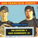2007 Topps '52 Dynamic Duos  #1 Tim Lincecum / Nate Schierholtz  RC  Giants