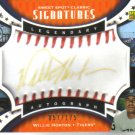 2007 Upper Deck Sweet Spot  Classic Signatures  Willie Horton   Tigers  /175  Gold Ink / Red Stitch