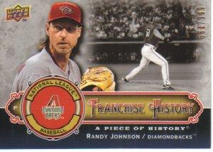 2009 Upper Deck Piece of History Franchise History  #RJ Randy Johnson   Diamondbacks  /999