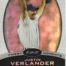 2008 Topps Finest Finest Moments Refractor  #JV Justin Verlander   Tigers