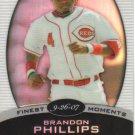 2008 Topps Finest Finest Moments Refractor  #BP Brandon Phillips   Reds