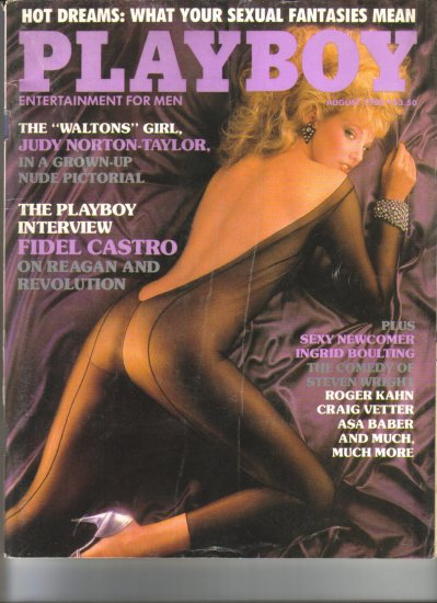 August 1985  Playboy Magazine    Judy Norton Taylor