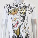 SHIROI NEKO T-shirt Tattoo Rock Skull Punk Mens Code : A004 Size=L