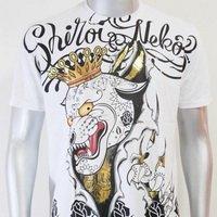 SHIROI NEKO T-shirt Tattoo Rock Skull Punk Mens Code : A004 Size=L