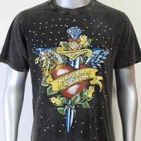 SHIROI NEKO T-shirt Tattoo Rock Skull Punk Mens Code : A010 Size=L