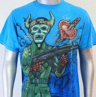 SHIROI NEKO T-shirt Tattoo Rock Skull Punk Mens Code : A011 Size=L