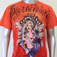 SHIROI NEKO T-shirt Tattoo Rock Skull Punk Mens Code : A015 Size=L