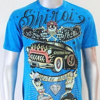 SHIROI NEKO T-shirt Tattoo Rock Skull Punk Mens Code : A022 Size=L