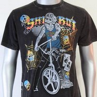 SHIROI NEKO T-shirt Tattoo Rock Skull Punk Mens Code : A023 Size=L