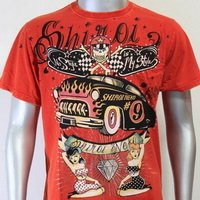 SHIROI NEKO T-shirt Tattoo Rock Skull Punk Mens Code : A029 Size=L