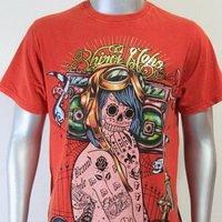 SHIROI NEKO T-shirt Tattoo Rock Skull Punk Mens Code : A038 Size=L