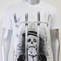 SHIROI NEKO T-shirt Tattoo Rock Skull Punk Mens Code : A039 Size=L