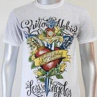 SHIROI NEKO T-shirt Tattoo Rock Skull Punk Mens Code : A054 Size=M