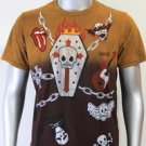 SHIROI NEKO T-shirt Tattoo Rock Skull Punk Mens Code : A058 Size=M