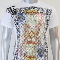 SHIROI NEKO T-shirt Tattoo Rock Skull Punk Mens Code : A069 Size=M