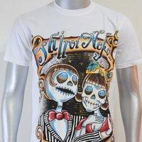 SHIROI NEKO T-shirt Tattoo Rock Skull Punk Mens Code : A074 Size=M