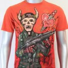 SHIROI NEKO T-shirt Tattoo Rock Skull Punk Mens Code : A081 Size=M