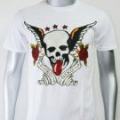 SHIROI NEKO T-shirt Tattoo Rock Skull Punk Mens Code : A088 Size=M