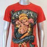 SHIROI NEKO T-shirt Tattoo Rock Skull Punk Mens Code : A084 Size=L