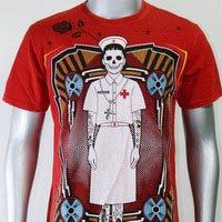 SHIROI NEKO T-shirt Tattoo Rock Skull Punk Mens Code : A085 Size=L