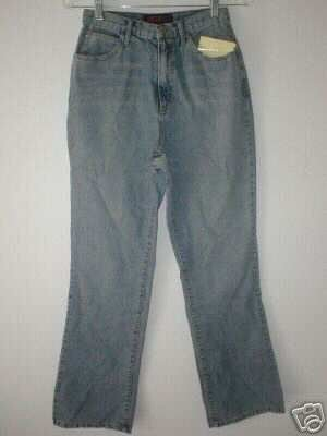NWT Portfolio by John Bartlett Vintage Wash Denim Boot Cut Jeans Retail $75 Size 8