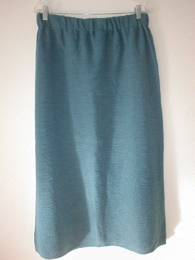 NEW Long Winter Knit Skirt with Elastic Waist by Linea Bosh Size XL