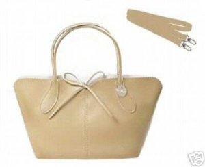 LULU NYC Hobo Handbag Purse with Removable Strap TAN New