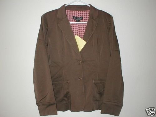 DIALOGUE Modal Blend Notch Collar Jacket 4 XS Espresso